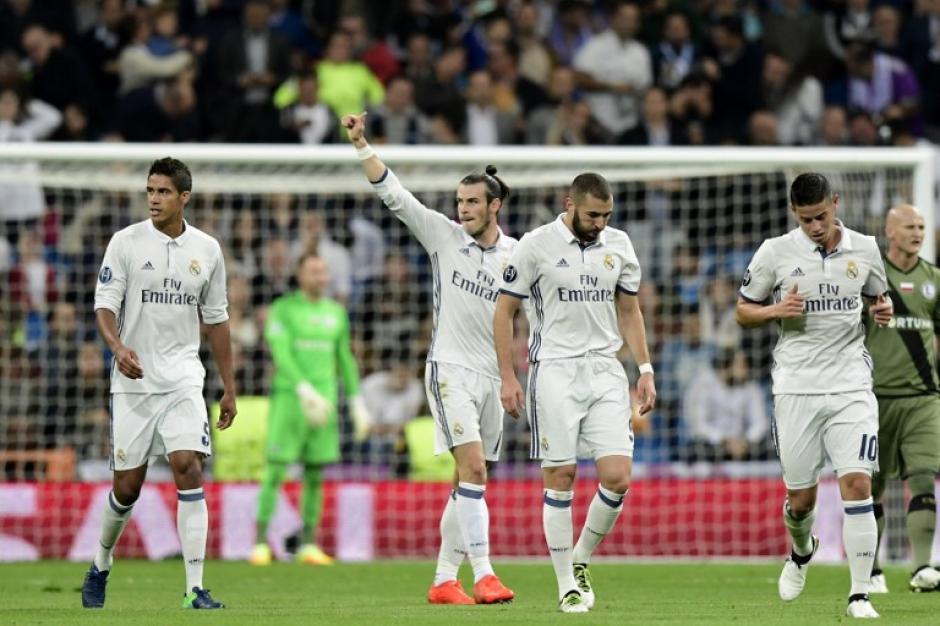 Gareth Bale celebra su gol, que abrió el marcador. (Foto: AFP)