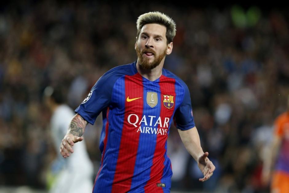 Y Messi marcó a placer y celebró su gol. (Foto: AFP)