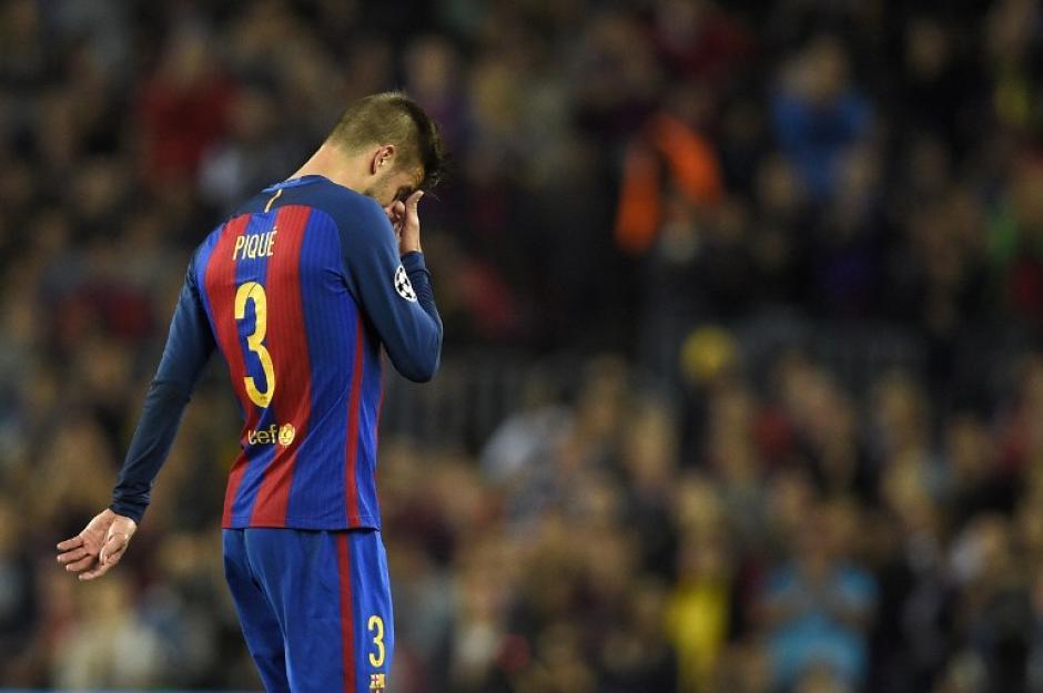 Piqué se lesionó en su mejor momento. (Foto: AFP)