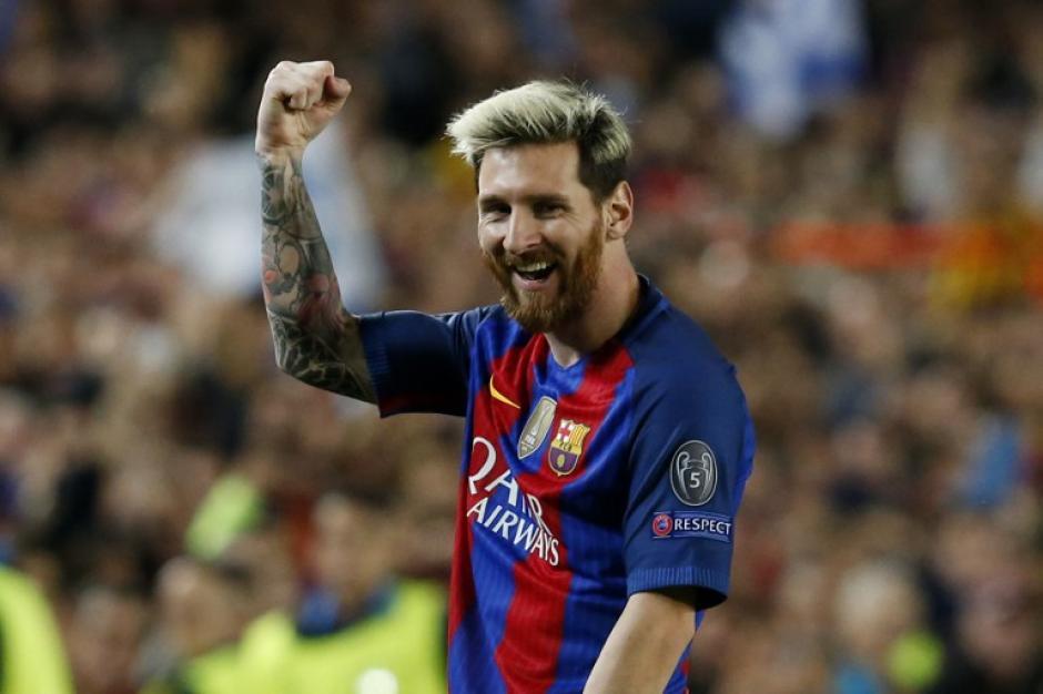 Messi metió tres goles en su regreso a la Champions. (Foto: AFP)