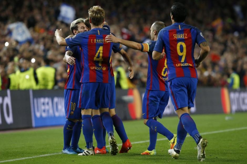 El Barcelona goleó al Manchester City. (Foto: AFP)