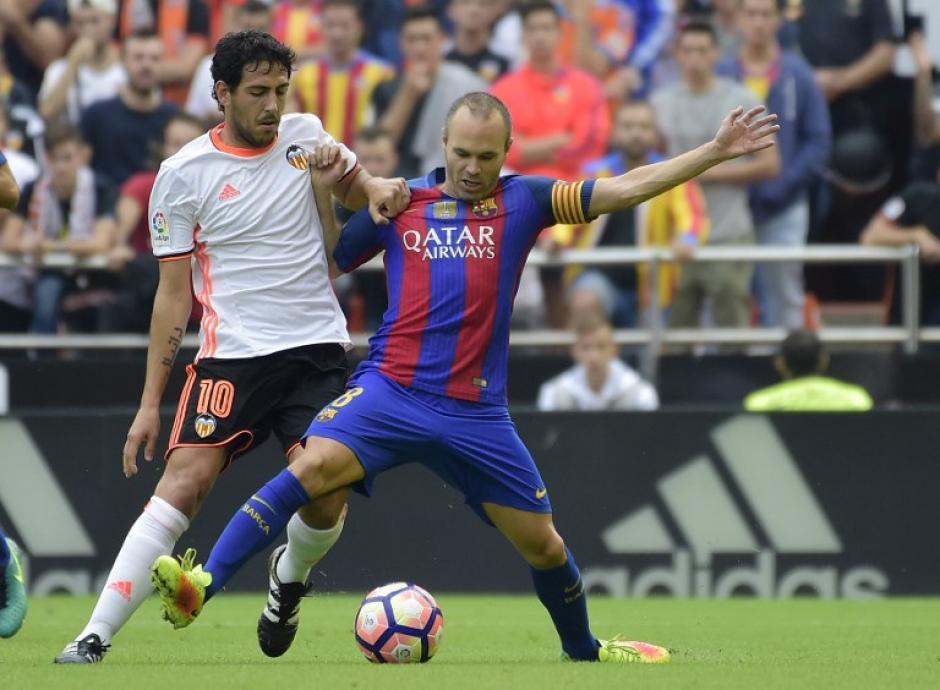 Valencia le complicó los 90 minutos al equipo de Luis Enrique. (Foto: AFP)