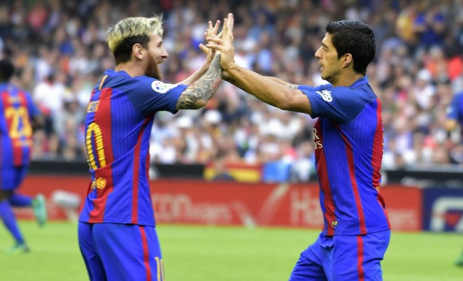 Messi y Luis Suárez fueron fundamentales para el triunfo azulgrana. (Foto: AFP)