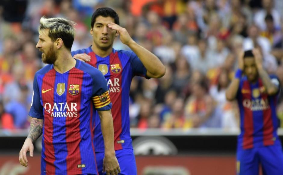 Messi recriminó con insultos a los aficionados de Valencia. (Foto: AFP)