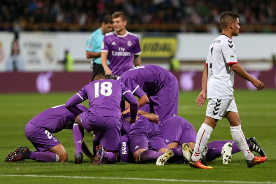 El Real Madrid venció 7-1 en la Copa del Rey. (Foto: AFP)