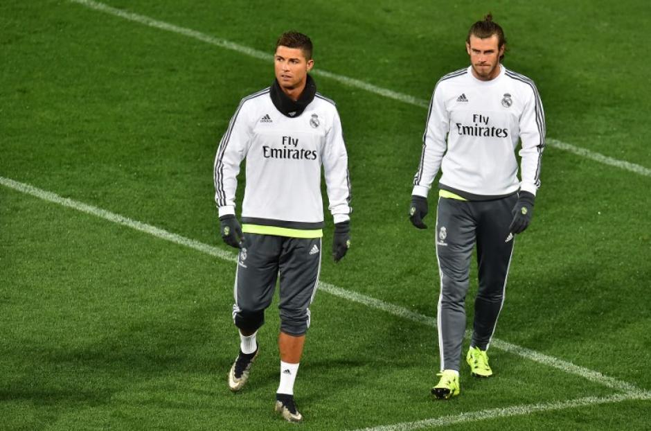 Cristiano Ronaldo y Gareth Bale durante un entrenamiento en Australia. (Foto: AFP)