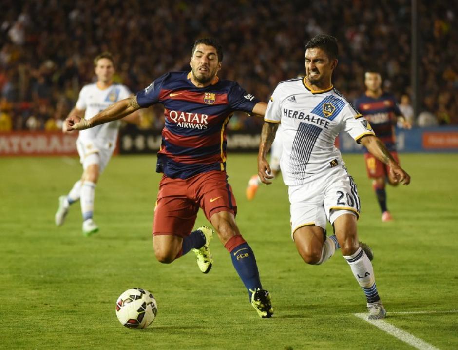Suárez fue el hombre que más marca recibió por parte de los jugadores del Galaxy
