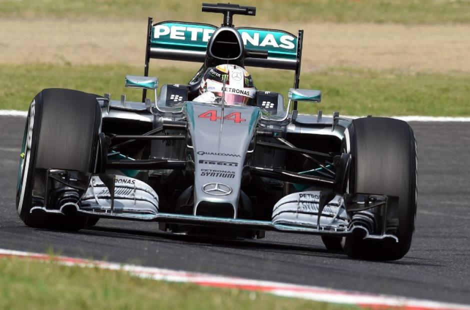 Hamilton ganó el Gran Premio de Japón y es el líder actual del campeonato mundial de Fórmula Uno. (Foto: AFP)