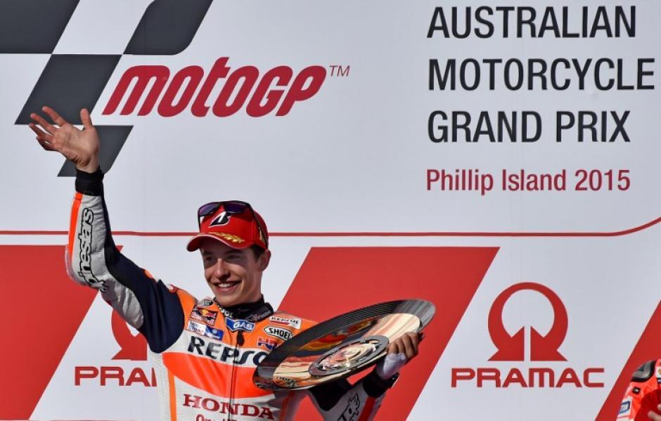 Marc Márquez fue el primro en llegar a la meta en el Gran Premio de Australia