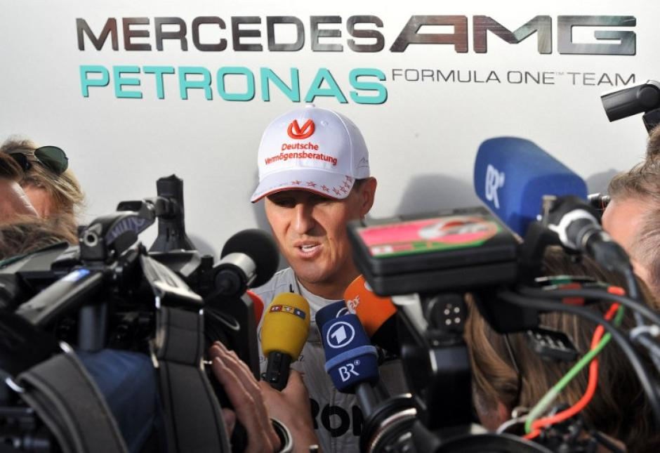 Michael Schumacher ha sido uno de los pilotos más mediáticos de la historia del automovilismo mundial. (AFP)
