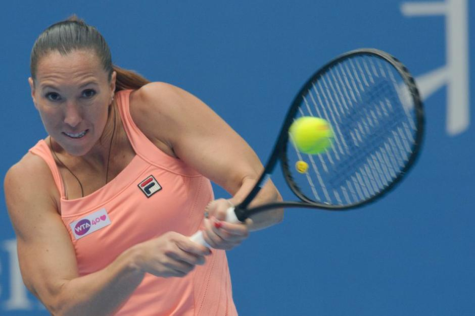 Jelena Jankovic disputará la final del torneo de tenis femenino de Pekín. (Ed Jones/AFP)