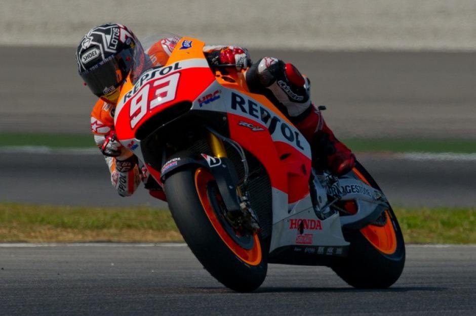 Marquéz batió el récord de velocidad en la tercera jornada de entrenamientos en el circuito de Sepang
