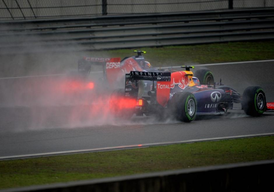 Daniel Ricciardo del equipoInfiniti Red Bull fue el protagonista de la prueba ya que logró la segunda posición en la parrilla. (Foto: AFP)