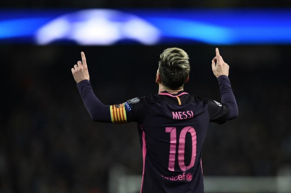 Leo con su tradicional celebración. (Foto: AFP)