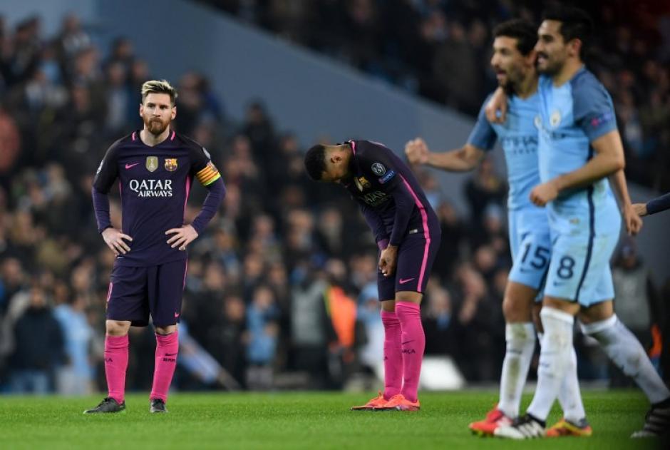 """La velocidad del City """"mató"""" al Barcelona. (Foto: AFP)"""