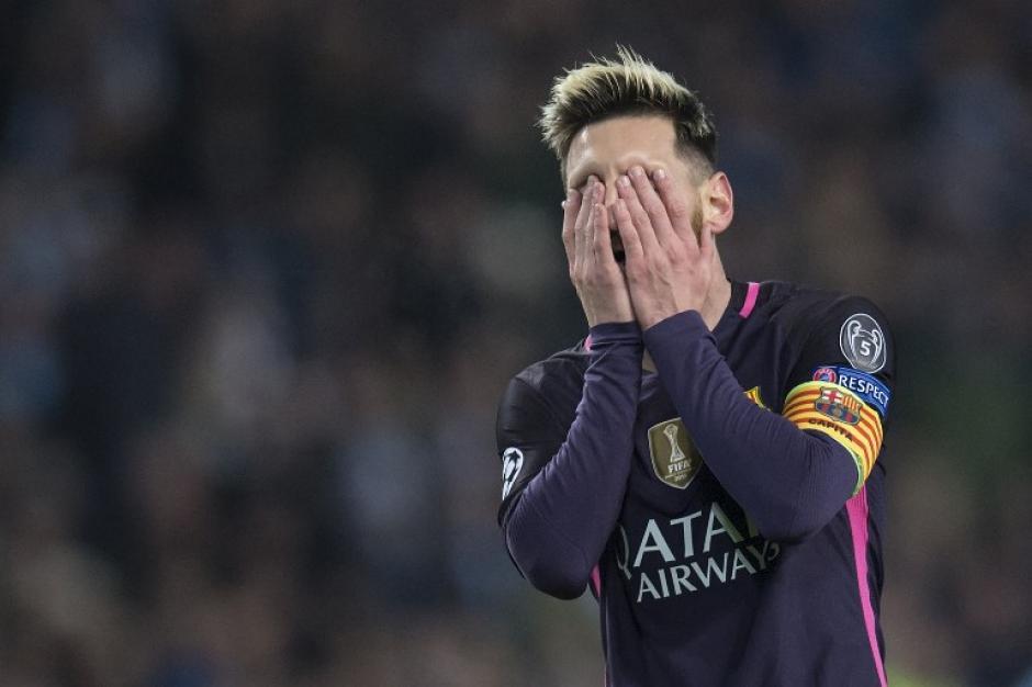 A Messi no le fue bien contra el City. (Foto: AFP)