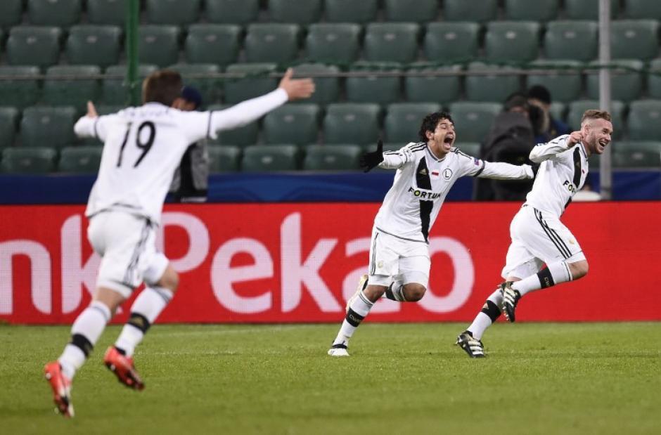 El Legia sorprendió a todo mundo, hasta a sí mismo. (Foto: AFP)