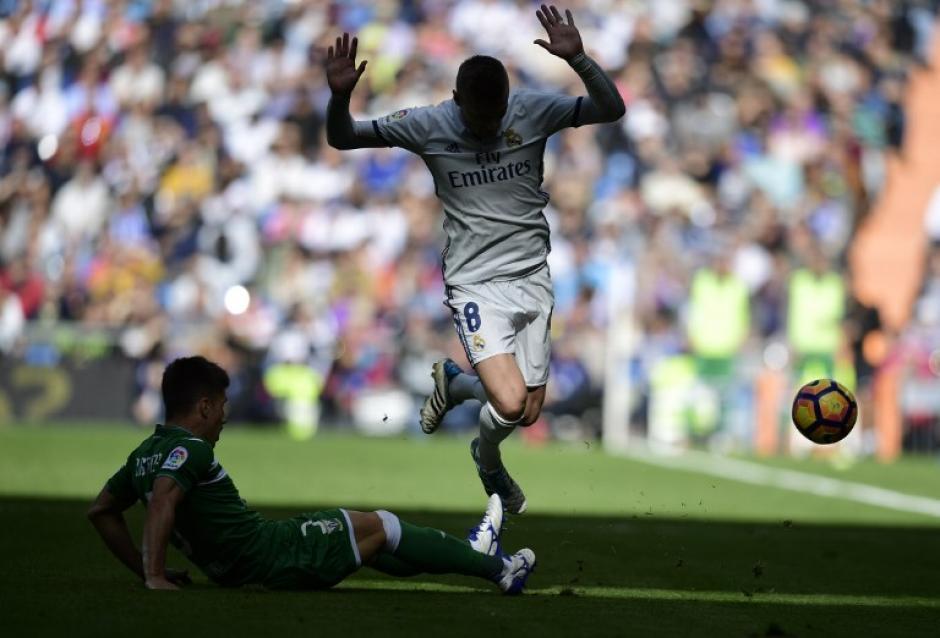 El alemán durante el partido contra el Leganés, en el que se lesionó. (Foto: AFP)