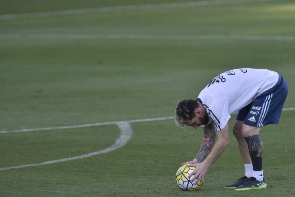 Messi continúa utilizándolas con Argentina (Foto: AFP)