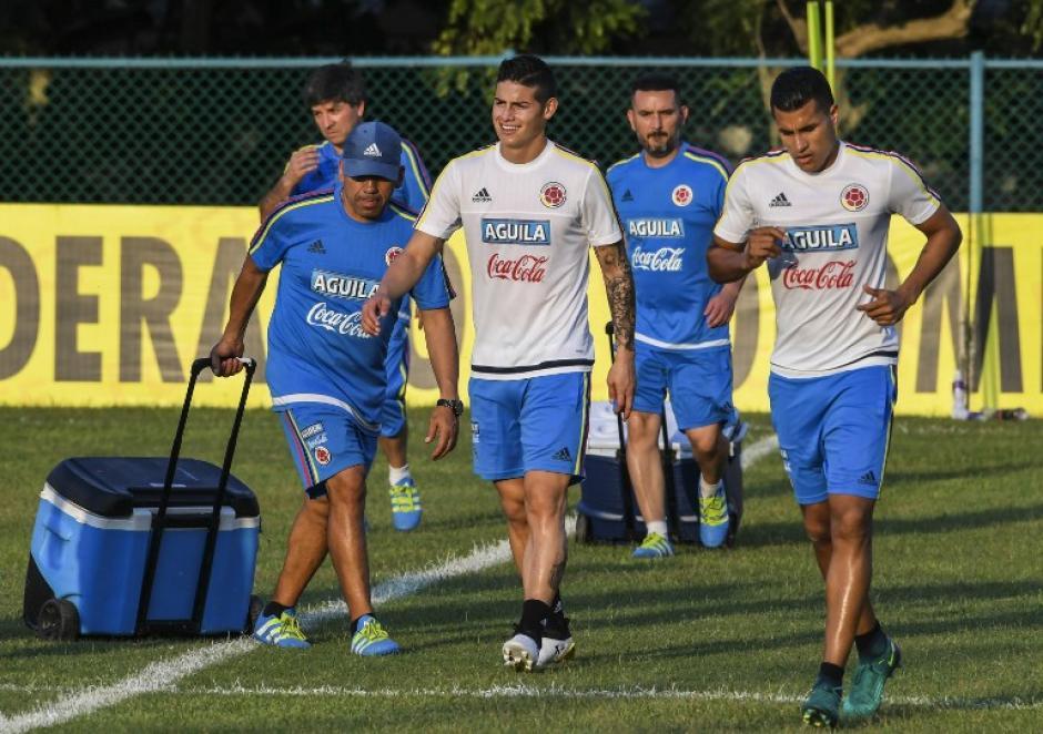 James y Falcao estarán con Colombia. (Foto: AFP)