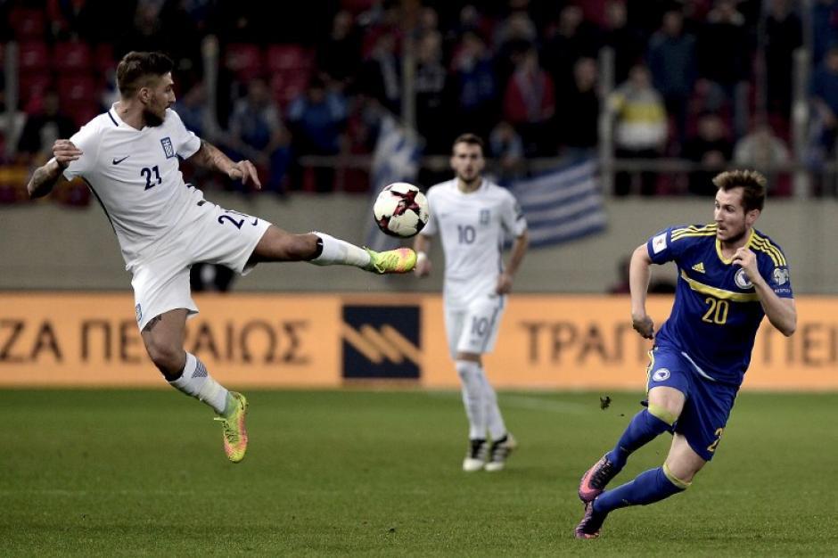 El partido terminó 1-1 en Atenas. (Foto: AFP)