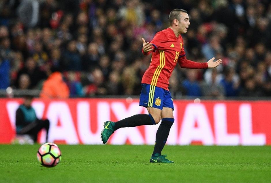 Iago Aspas empató el partido con un golazo en su debut. (Foto: AFP)