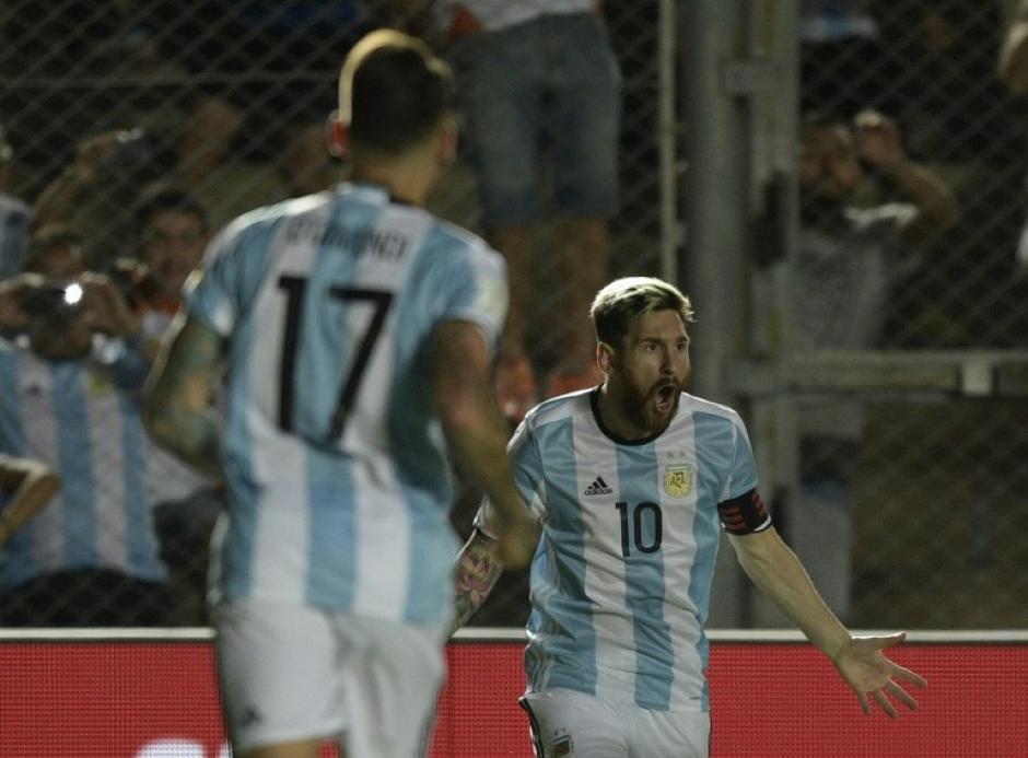 Messi celebró con mucha euforia, para quienes le dicen pecho frío. (Foto: AFP)