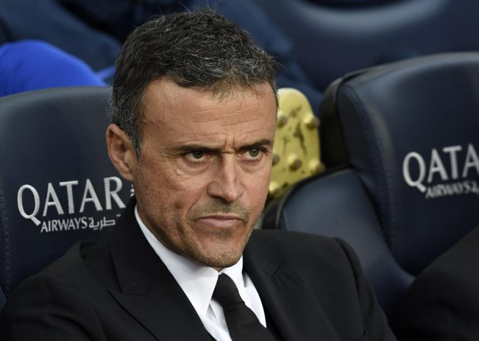 El técnico del Barcelona Luis Enrique protestó en todo momento desde el banquillo. (Foto: LLUIS GENE/AFP)