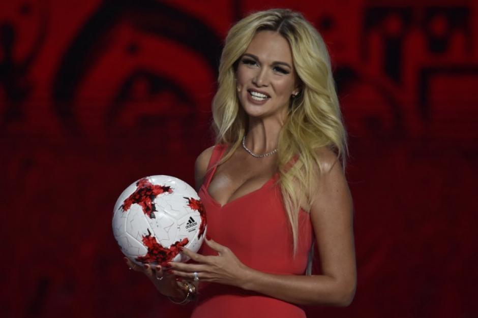 La modelo es embajadora del próximo mundial. (Foto: AFP)