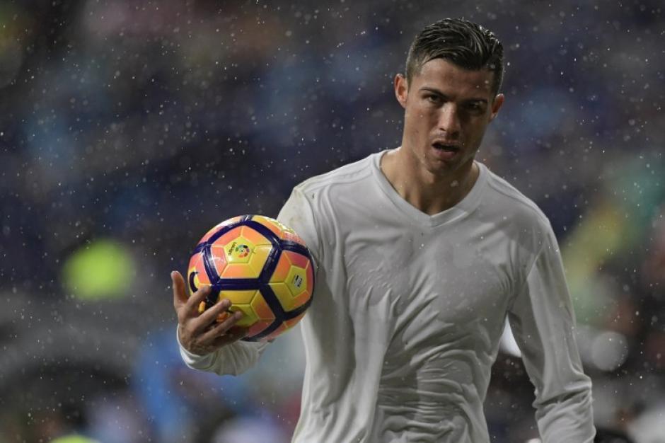 Cristiano Ronaldo publicó una foto del entreno que causó polémica. (Foto: AFP)