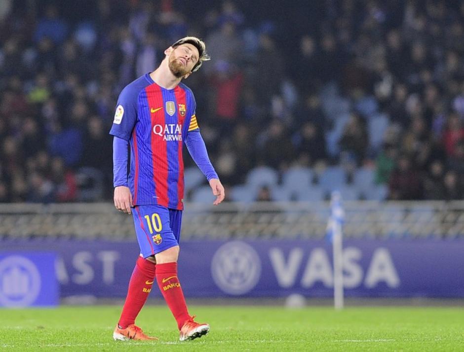 Messi dio la cara por el equipo pero no le alcanzó. (Foto: AFP)