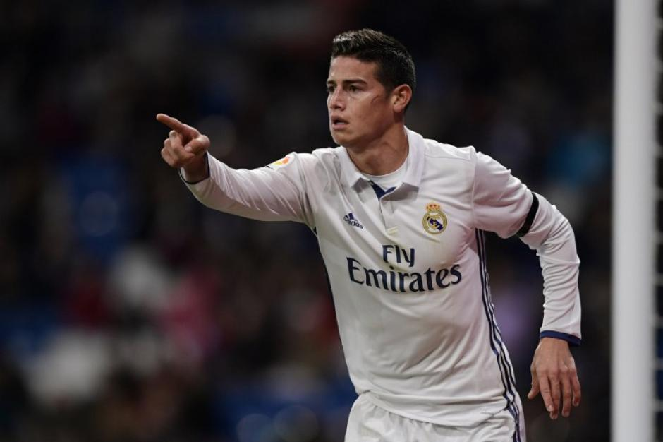 James jugó y marcó un gol. (Foto: AFP)