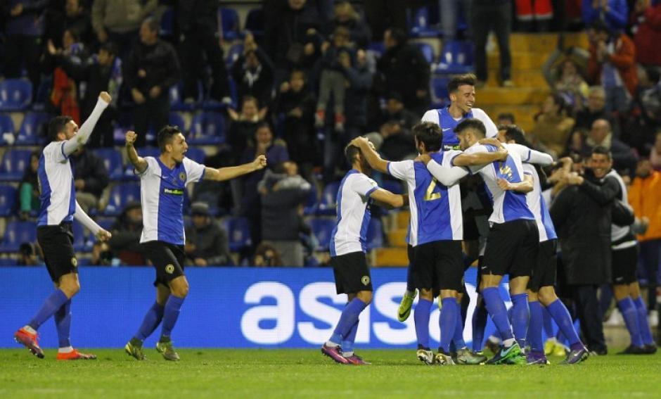 El Hércules se había puesto adelante en el encuentro por la Copa del Rey. (Foto: AFP)