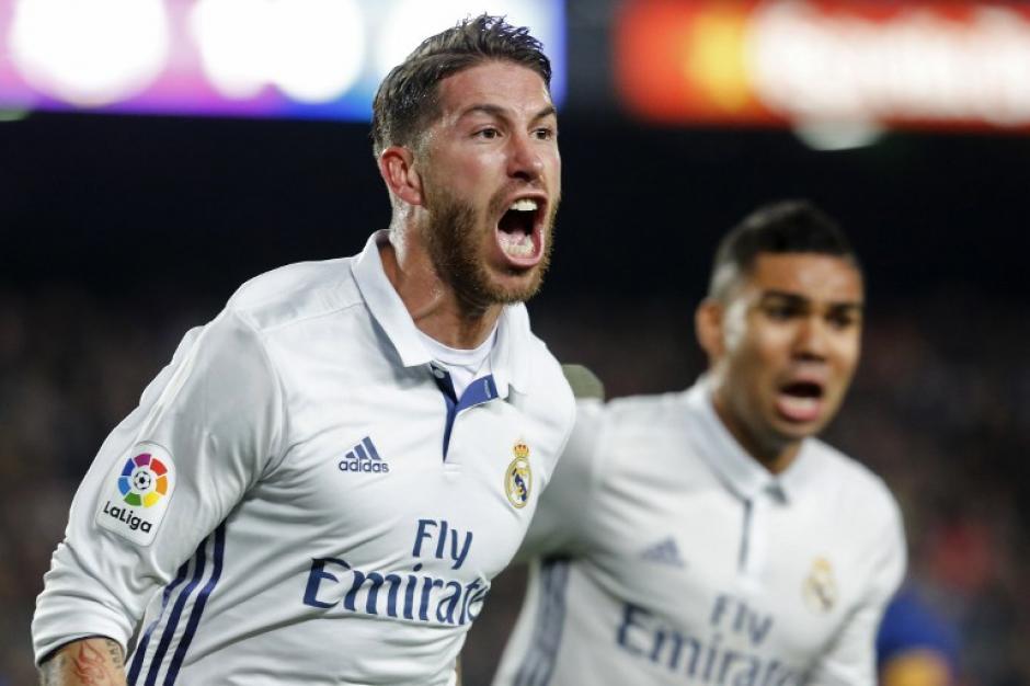 Ramos le robó el triunfo al Barça en el minuto 89. (Foto: AFP)
