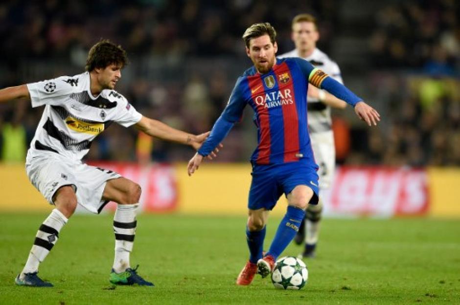 Leonel Messi marcó un gol en la goleada del Barsa 4-0 al Borussia Mönchengladbach. (Foto: AFP)