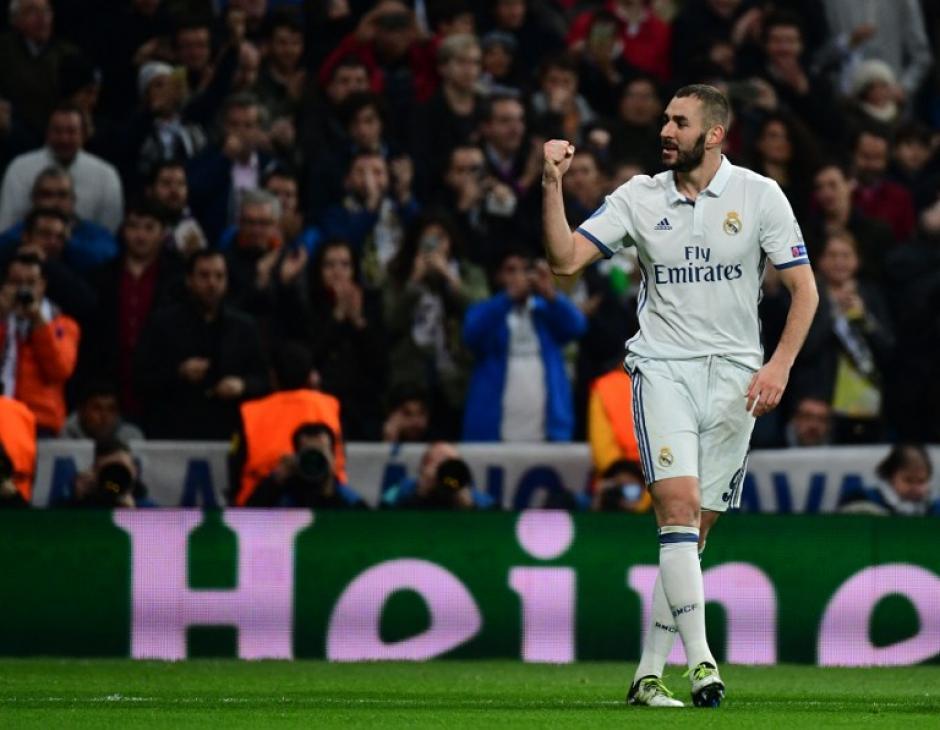 Benzema marcó un doblete que no alcanzó. (Foto: AFP)
