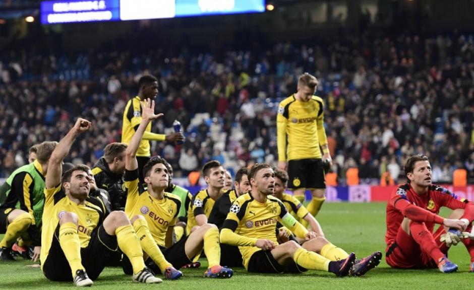 El Borussia Dortmund empató en el Bernabéu. (Foto: AFP)