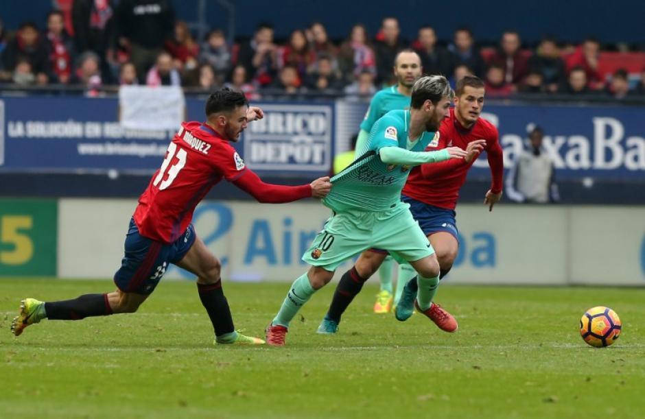 El argentino fue clave (otra vez) para el Barça. (Foto: AFP)