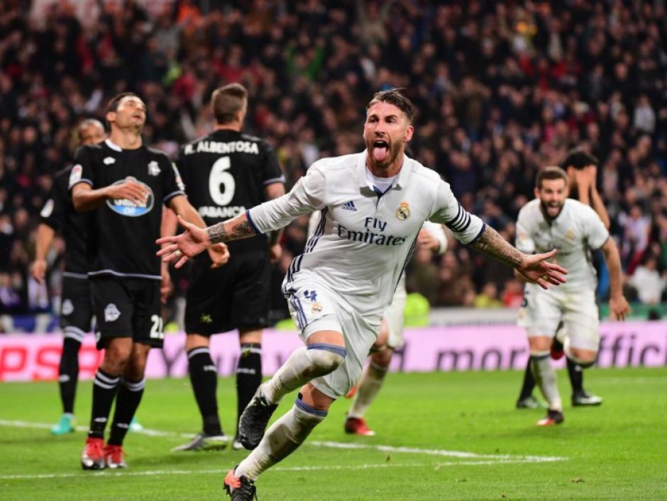 Sergio Ramos hizo lo que mejor sabe hacer. (Foto: AFP)