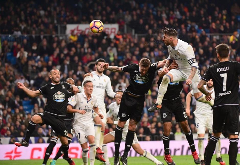Ramos marcó con un gran cabezazo...como siempre. (Foto: AFP)
