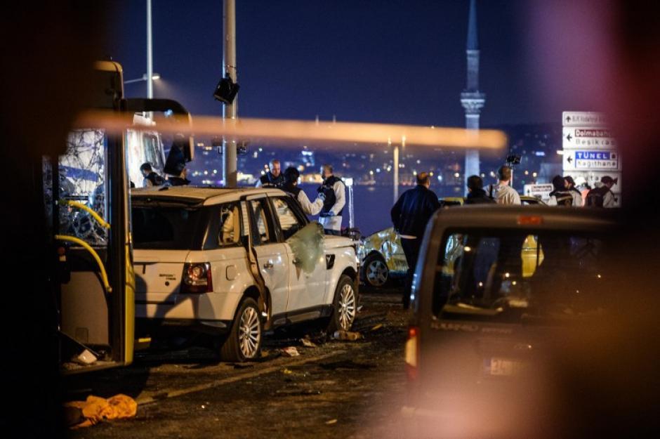 El ataque fue cerca del estadio del Besiktas. (Foto: AFP)