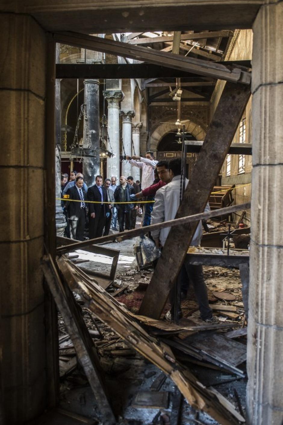 La bomba fue hecha de dinamita. (Foto: AFP)