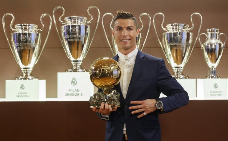 Cristiano ganó el lunes su cuarto Balón de Oro. (Foto: AFP)
