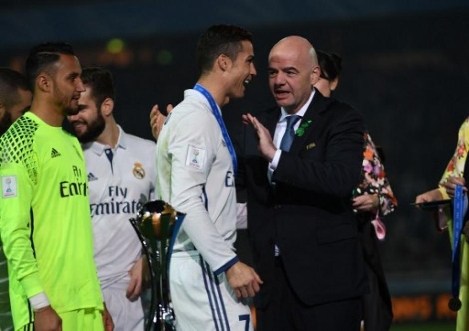Cristiano Ronaldo anotó tres goles en la final del Mundial de Clubes. (Foto: AFP)