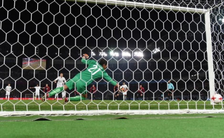 Un penal y dos goles fue lo que marcó el jugador del Real Madrid. (Foto: AFP)