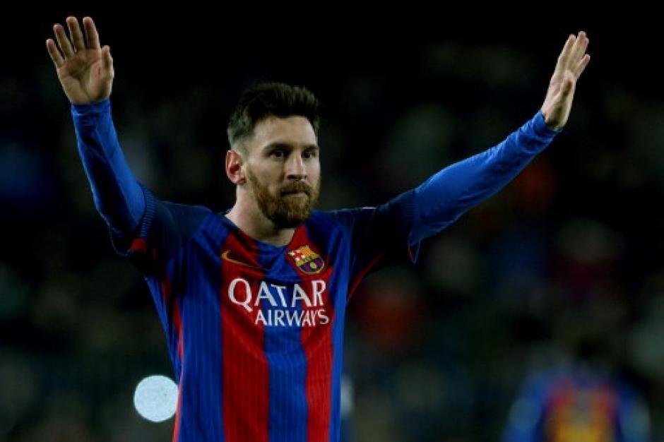 Lio se fue aplaudido del Camp Nou como muchas veces. (Foto: AFP)