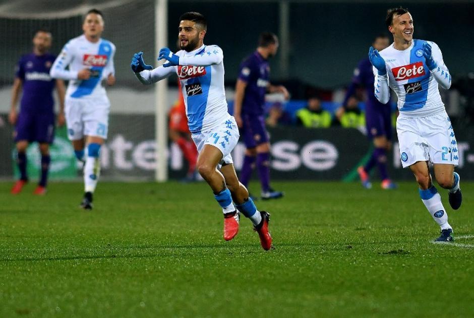Lorenzo Insigne celebra su gol. (Foto: AFP)