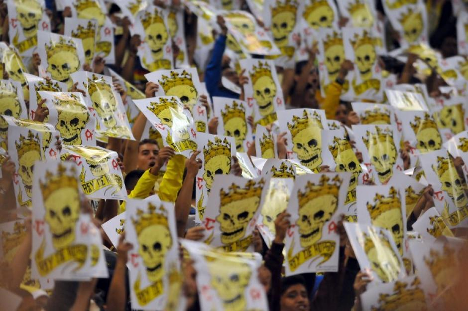 La afición apoyó de principio a fin al América. (Foto: AFP)