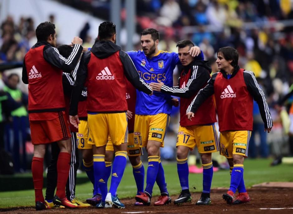 André-Pierre Gignac anotó el gol de los Tigres. (Foto: AFP)