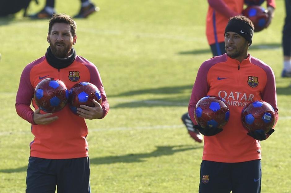 El argentino y Neymar ya se integraron al club catalán. (Foto: AFP)